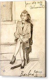 Barbara Waiting For Rehearsal  1939 Acrylic Print