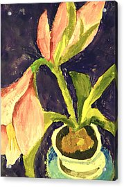 Barbara's Lily Acrylic Print by Valerie Lynch