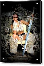 Barbarian Queen Acrylic Print