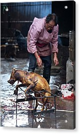 Barbecued Dog Carcass In A Chinese Market Acrylic Print