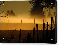 Acrylic Print featuring the photograph Barbed Silhouette by Paul Noble
