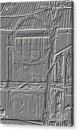 Barbed Wire Metal Print Hanging By Ranch House 3006.04 Acrylic Print by M K  Miller