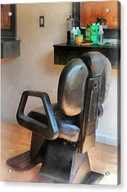 Barber - Barber Chair And Hair Supplies Acrylic Print by Susan Savad