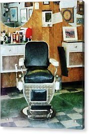 Barber - Barber Chair Front View Acrylic Print by Susan Savad