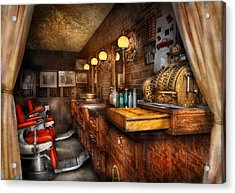 Barber - Closed On Sundays Acrylic Print by Mike Savad
