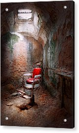 Barber - Eastern State Penitentiary - Remembering My Last Haircut  Acrylic Print by Mike Savad