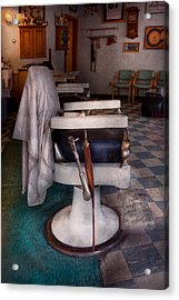 Barber - Frenchtown Nj - We Have Some Free Seats  Acrylic Print by Mike Savad