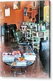 Barber - Hair Salon Acrylic Print by Susan Savad