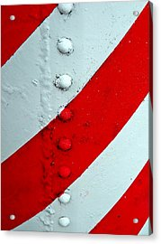 Barber Pole Acrylic Print by Chris Berry