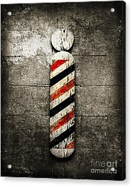 Barber Pole Selective Color Acrylic Print by Andee Design