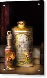 Barber -  Sharp And Dohmes Violet Toilet Powder  Acrylic Print by Mike Savad
