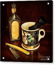 Barber - Shaving Mug And Toilet Water Acrylic Print by Paul Ward