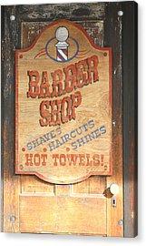 Barber Shop Acrylic Print by Lynnette Johns