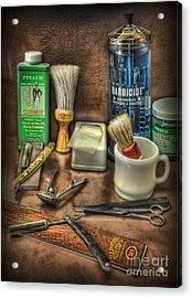 Barber Shop Tools  Acrylic Print