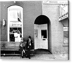 Barber Shop Watertown Tennessee Acrylic Print by   Joe Beasley