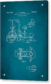 Barber Swinging Chair Patent 1950 Acrylic Print