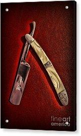 Barber - The Straight Edge Acrylic Print by Paul Ward