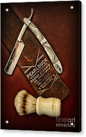 Barber - Tools For A Close Shave  Acrylic Print