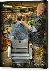 The Barber Shop Shave And A Haircut - Barber Shop Acrylic Print by Lee Dos Santos