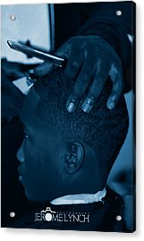 Acrylic Print featuring the photograph Barbershop  Art by Jerome Lynch