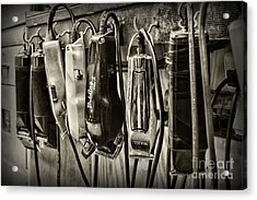 Barbershop Clippers In Black And White Acrylic Print
