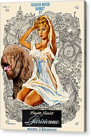 Barbet Art - Una Parisienne Movie Poster Acrylic Print by Sandra Sij