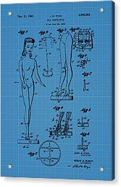 Barbie Doll Blueprint Acrylic Print