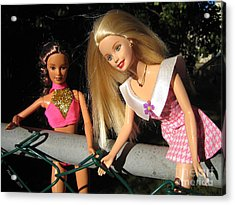 Acrylic Print featuring the photograph Barbie Escapes by Nina Silver