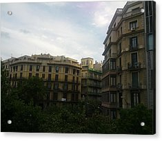 Barcelona Buidings Acrylic Print by Shesh Tantry