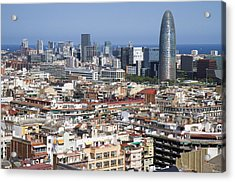 Acrylic Print featuring the photograph Barcelona Cityscape by Nathan Rupert