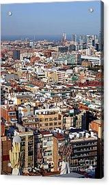 Barcelona Cityscape  Acrylic Print by Sophie Vigneault