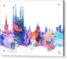 Barcelona Acrylic Print by Luke and Slavi
