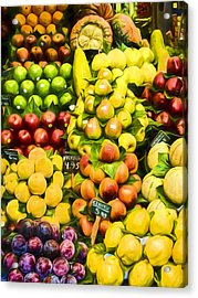 Acrylic Print featuring the photograph Barcelona Market Fruit by Steven Sparks