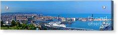 Barcelona Panorama Acrylic Print by Michal Bednarek
