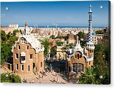 Barcelona Park Guell Antoni Gaudi Acrylic Print by Matthias Hauser