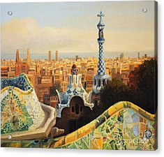 Barcelona Park Guell Acrylic Print by Kiril Stanchev
