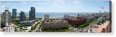 Barcelona Seafront Panorama Acrylic Print by Panoramic Images