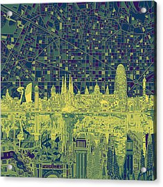 Barcelona Skyline Abstract 4 Acrylic Print