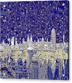 Barcelona Skyline Abstract  Acrylic Print