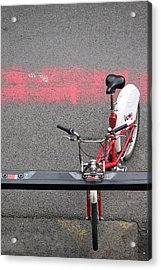 Acrylic Print featuring the photograph Barcelona Spain Bicycle by John Jacquemain