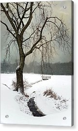 Acrylic Print featuring the photograph Winter Brook by Robin-Lee Vieira