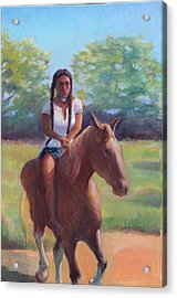 Bareback Riding Acrylic Print by Gwen Carroll