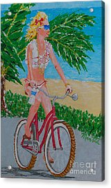 Barefoot Beach Crusing  Acrylic Print