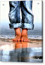 Acrylic Print featuring the digital art Barefoot Boy   by Dale   Ford