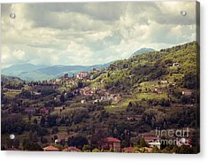 Barga In Alpi Apuane Mountains Tuscany Acrylic Print