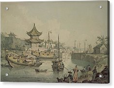 Barges Of Lord Macartneys Embassy To China Acrylic Print