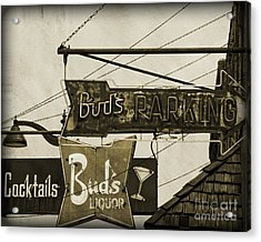 Acrylic Print featuring the photograph Barhopping At Buds 2 by Lee Craig