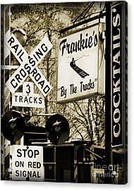 Acrylic Print featuring the photograph Barhopping At Frankies 2 by Lee Craig