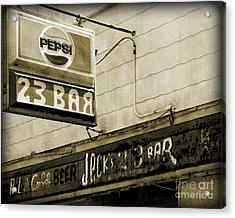 Acrylic Print featuring the photograph Barhopping At Jacks 2 by Lee Craig