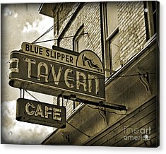 Acrylic Print featuring the photograph Barhopping At The Blue Slipper 2 by Lee Craig
